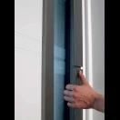 Porte d'entrée alu grande largeur vitrée