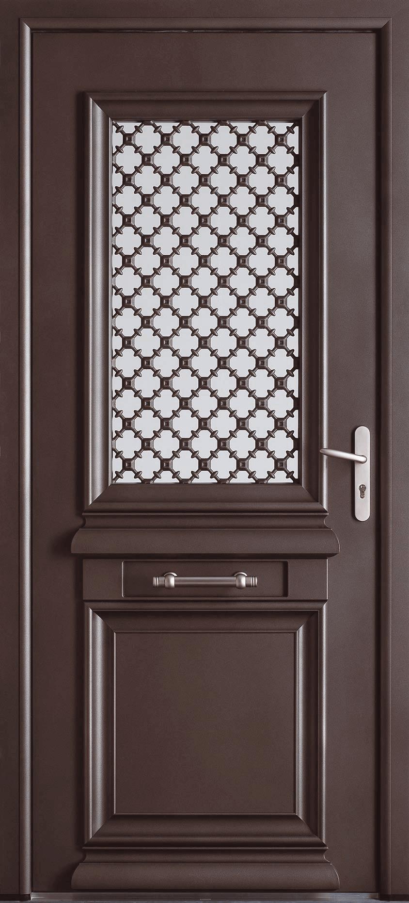 Porte Entree Vitree Opaque porte vitrée et moulures à l'ancienne