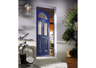 Porte d'entrée alu vitrée 3 carreaux