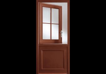 Porte d'entrée alu avec châssis ouvrant vitré