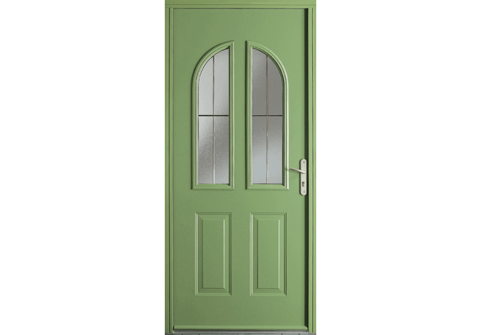 Porte acier vitrée 2 carreaux arrondis