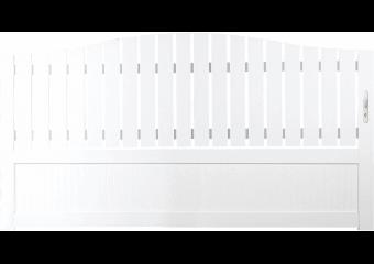 Portail PVC à barreaudage et plein
