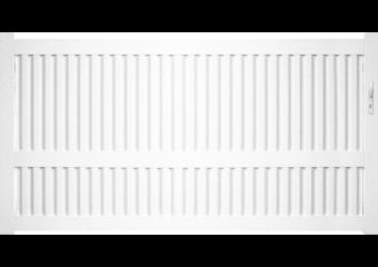 Portail PVC ajouré à lames verticales