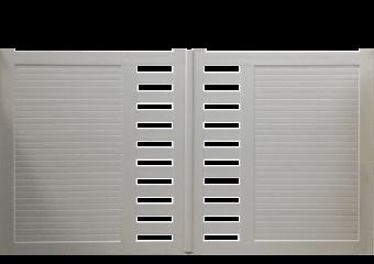 Portail PVC droit semi-ajouré