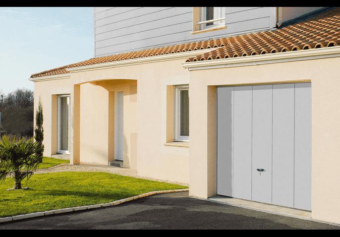 Porte de garage basculante double paroi isolée