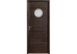 Porte intérieure en bois exotique