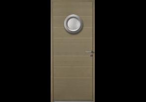Porte avec hublot aluminium