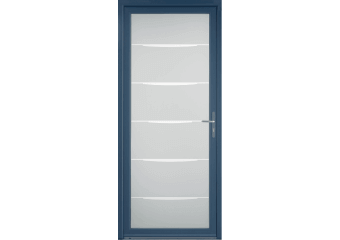 Porte d'entrée alu contemporaine grand vitrage