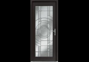 Porte d'entrée alu classique grand vitrage