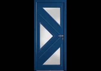Porte 3 vitrages triangulaires