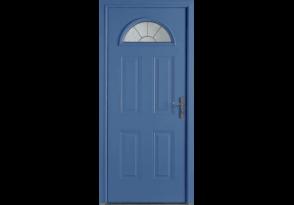 Porte d'entrée alu avec vitrage demi-lune