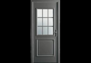 Porte mi-vitrée et petits bois