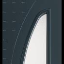 Porte d'entrée alu avec grand vitrage et rainures
