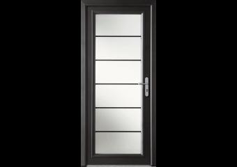 Porte d'entrée alu moderne grand vitrage