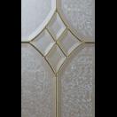 Porte d'entrée alu classique avec vitrail laiton