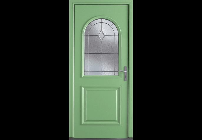 Porte classique avec vitrage arrondi