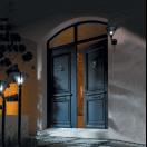 Porte d'entrée alu classique au style noble