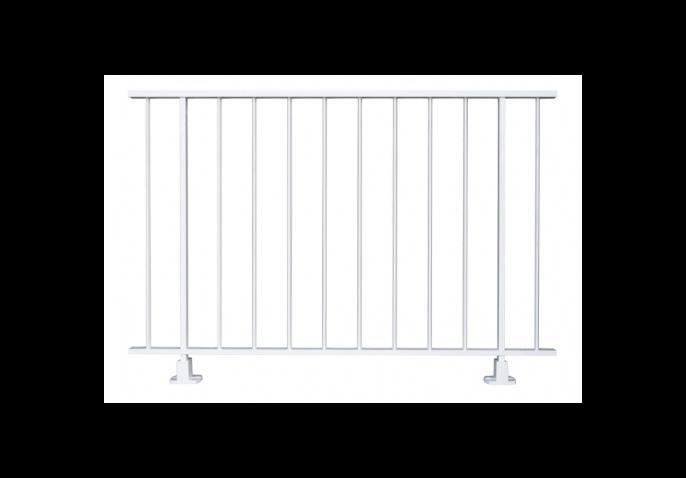 Garde-corps aluminium à barreaux losanges
