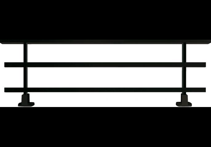 garde-corps aluminium à lisses rectangulaires