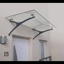 Marquise moderne épurée vitrée