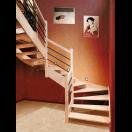 Escalier 2/4 tournant grand jour