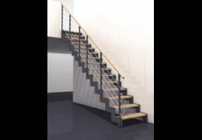 Escalier droit limons à crémaillère