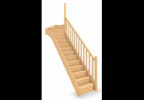 Escalier standard 1/4 tournant haut