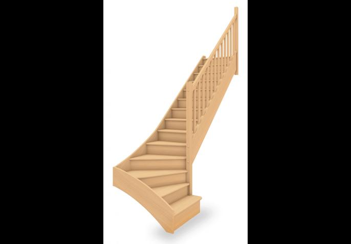 Escalier standard 1/4 tournant bas