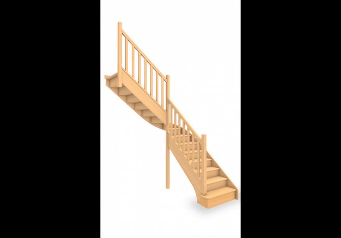 Escalier standard 1/4 tournant milieu