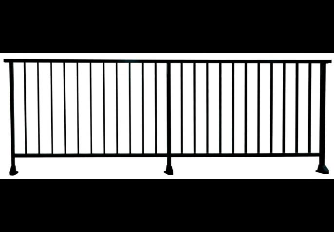 Garde-corps aluminium à barreaudage vertical