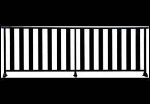 garde-corps à barreaudage vertical ajouré