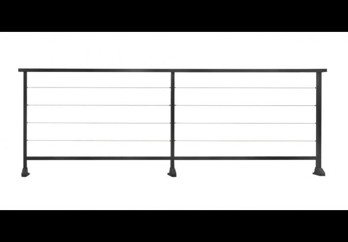 clôture séparative aluminium avec filin inox