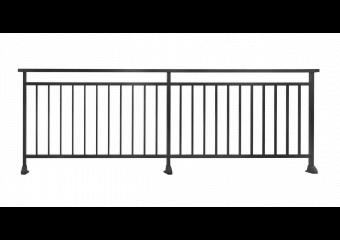 Garde-corps aluminium ajouré à barreaudage vertical