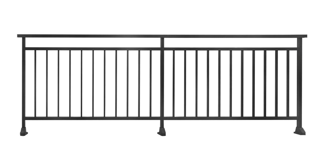 Espacement Entre Barreaux Garde Corps garde-corps alu ajouré à barreaux verticaux