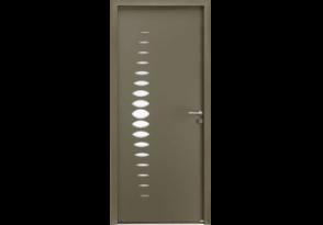 Porte moderne avec petit vitrage arrondi