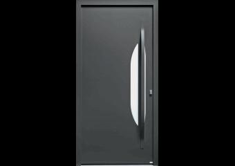 Porte contemporaine mi-vitrée demi-lune