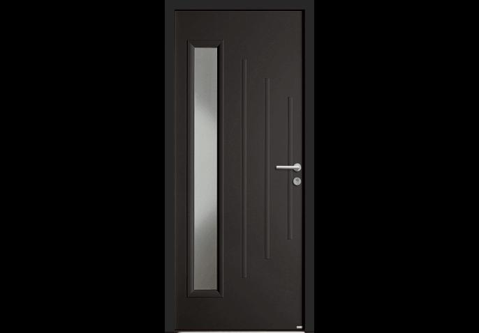 Porte à vitrage rectangulaire vertical