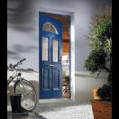 Porte classique mi-vitrée et moulures
