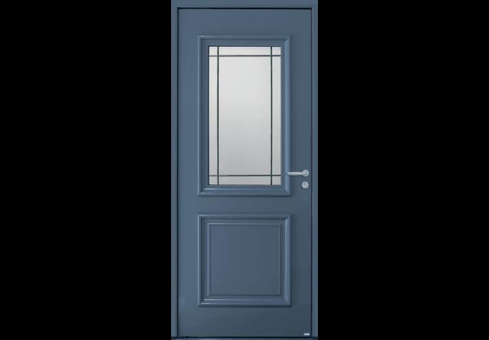 Porte vitrée petits bois et moulures
