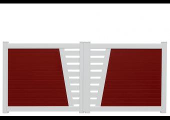 Portail bicolore semi-ajouré au centre