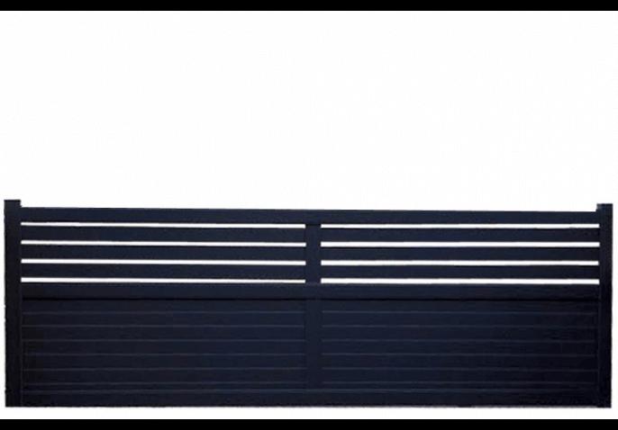 Portail semi-ajouré lames horizontales