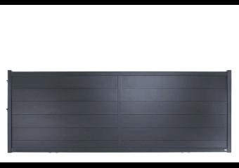 portail alu plein lames grandes largeurs