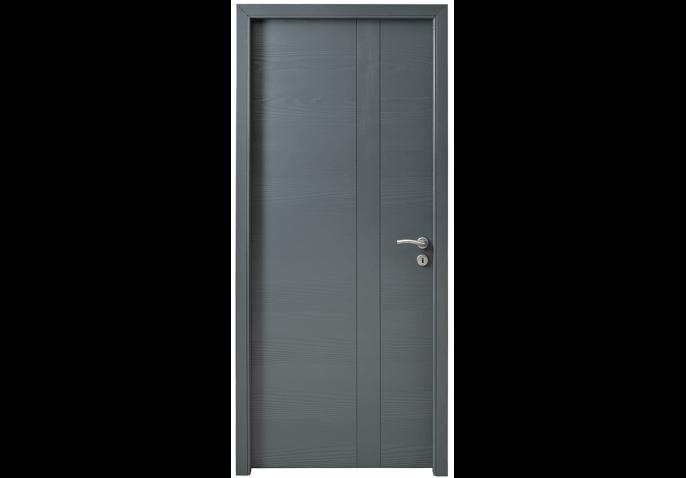 Porte intérieure insert vertical bois