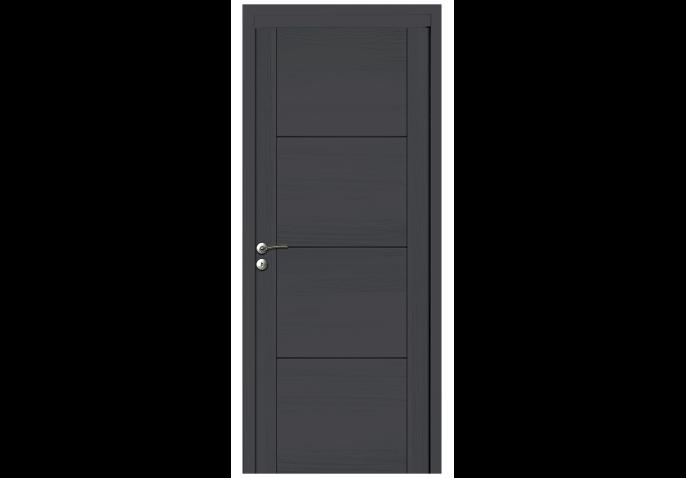 Porte intérieure bois avec inserts alu