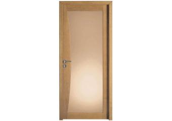 Porte grand vitrage bois massif