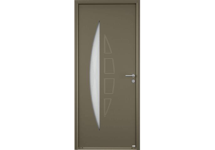 porte moderne grand vitrage demi-lune