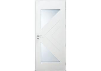 Porte 2 vitrages triangles et rainures