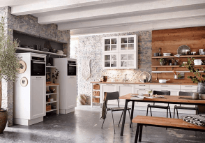 Cuisine sur mesure équipée blanc cottage