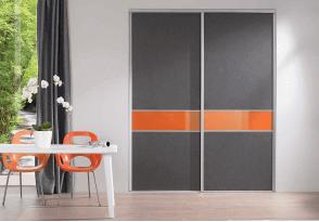 Façade à partitions gris-orange