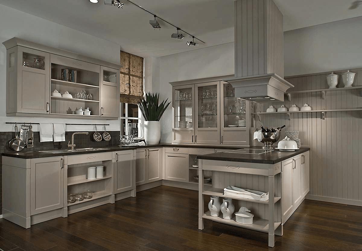 Deco Chambre Style Cottage Anglais cuisine cottage en frêne laqué coloris cachemire